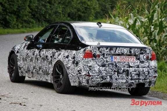 BMWM3sedan side-rear view