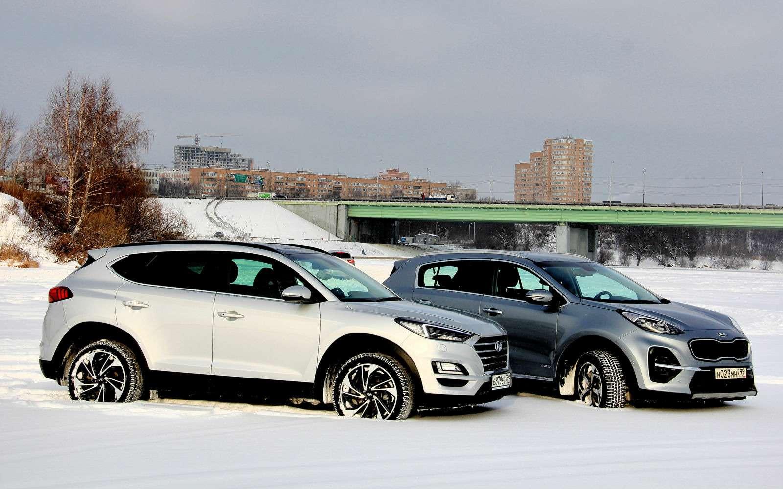 Kia Sportage — Hyundai Tucson: кто в ларце сильнее