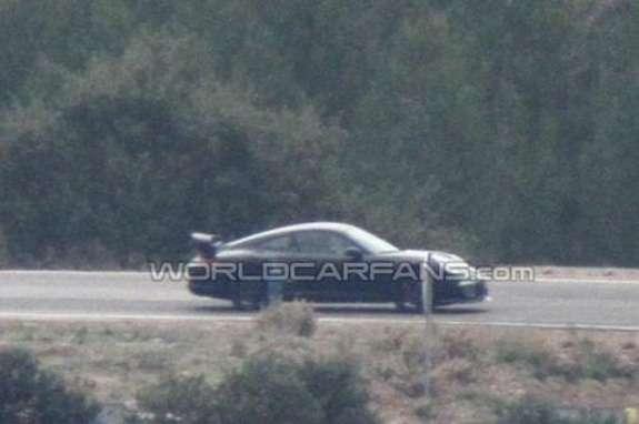 Porsche 911GT3 test prototype side view