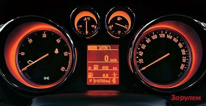 Красная подсветка приборов появляется после перехода вспортивный режим.