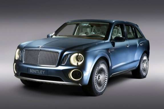 Bentley EXP 9F Concept side-front view