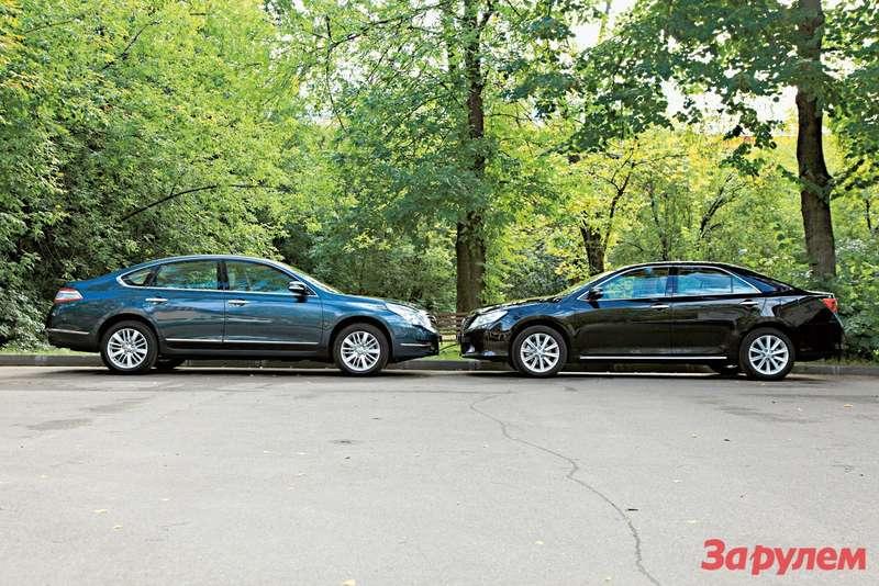 «Ниссан-Теана», от 999 000 руб., КАР от 10,96 руб./км vs «Тойота-Кэмри», от 959 000 руб., КАР от 10,54 руб./км