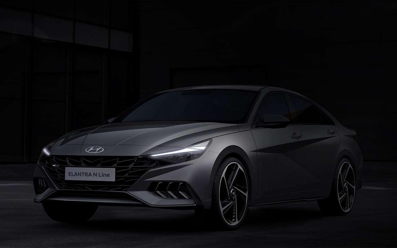 Hyundai показала свежие тизеры Elantra NLine— фото 1143833