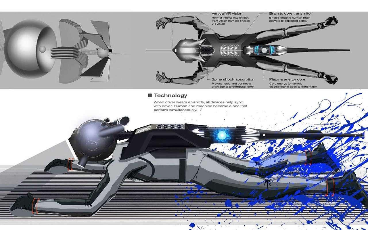 Концепт Nissan G-R водят лежа наживоте— фото 1209698