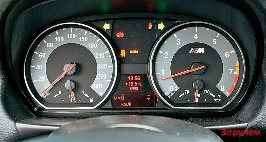 Занарочитой простотой М-приборов скрывается великолепная информативность— считывание показаний не должно отвлекать водителя.