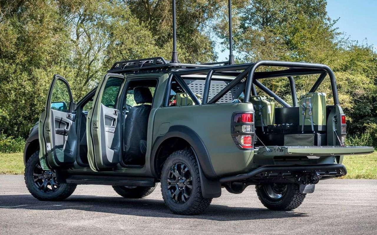 В стиле милитари: Ford Ranger переделали дляармии— фото 1003985