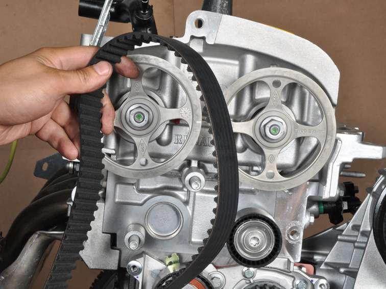 замена ремня грм на двигателе k7ja700 renault