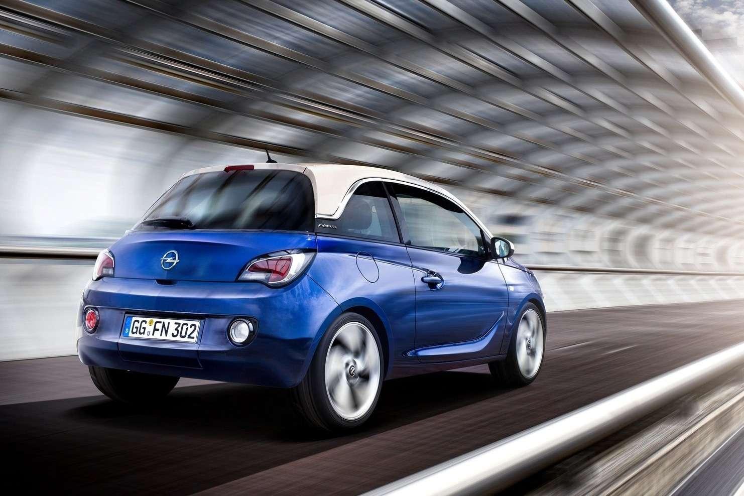 Opel Adam side-rear view