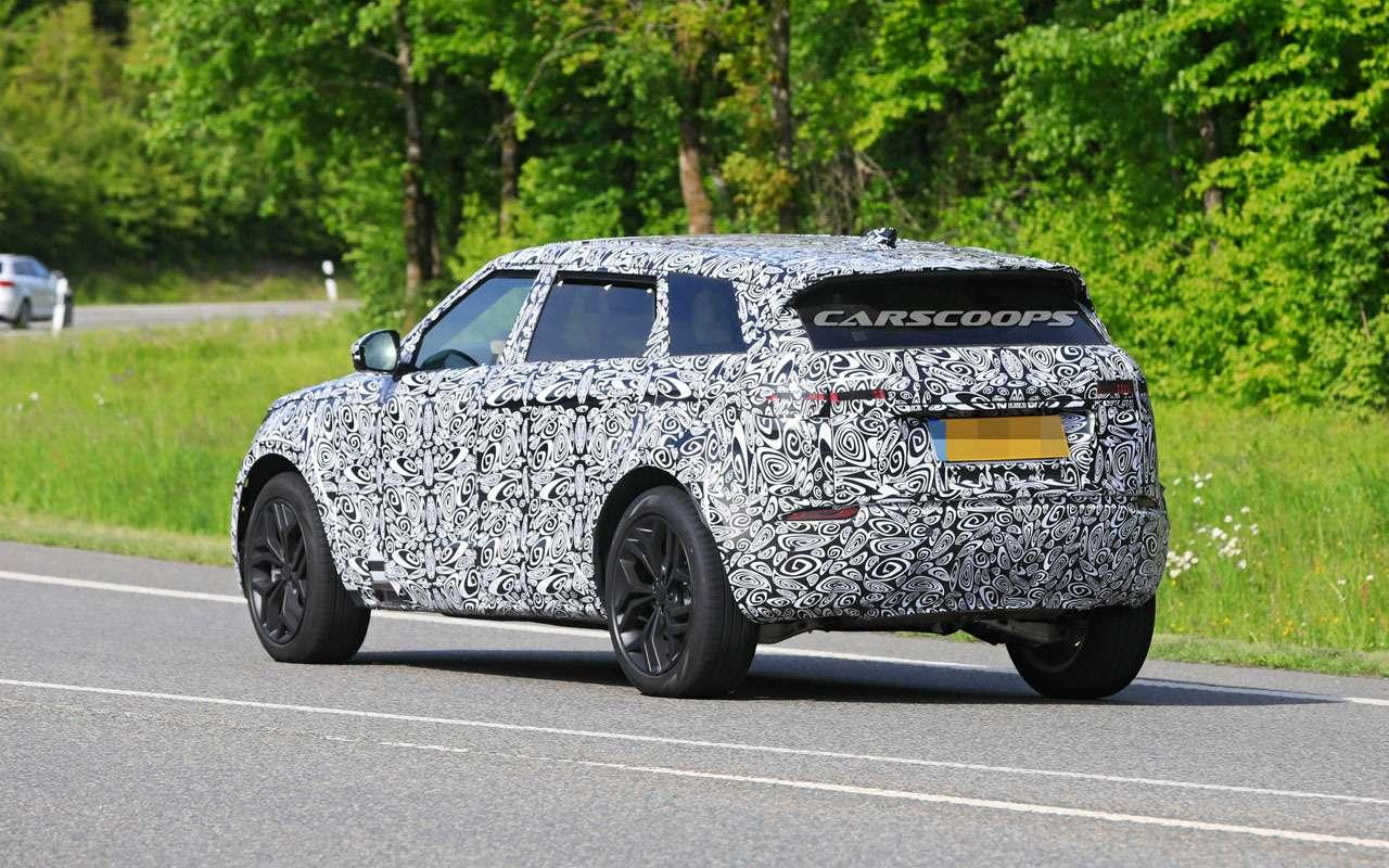 Удлиненный Range Rover Evoque натестах: первые фото— фото 1125356