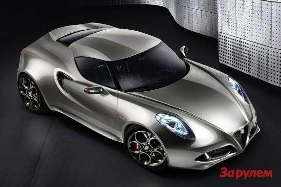 Alfa Romeo 4CConcept top-front view