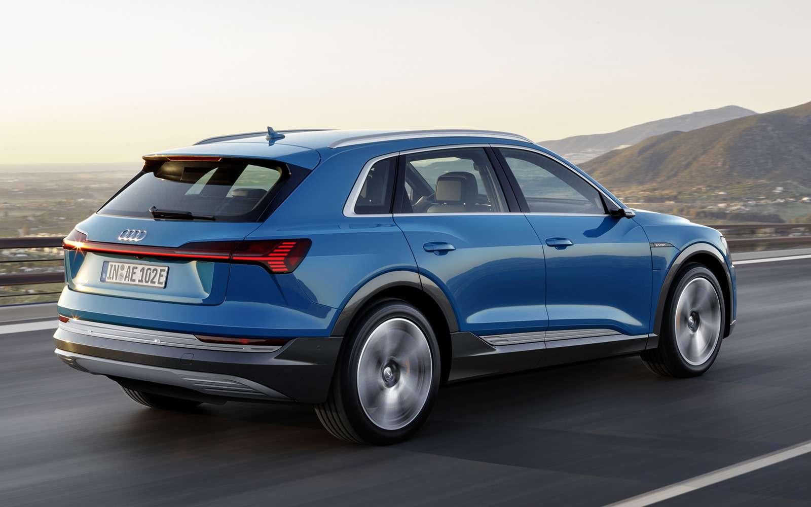 Audi e-tron quattro: два электромотора икамеры вместо зеркал— фото 910472
