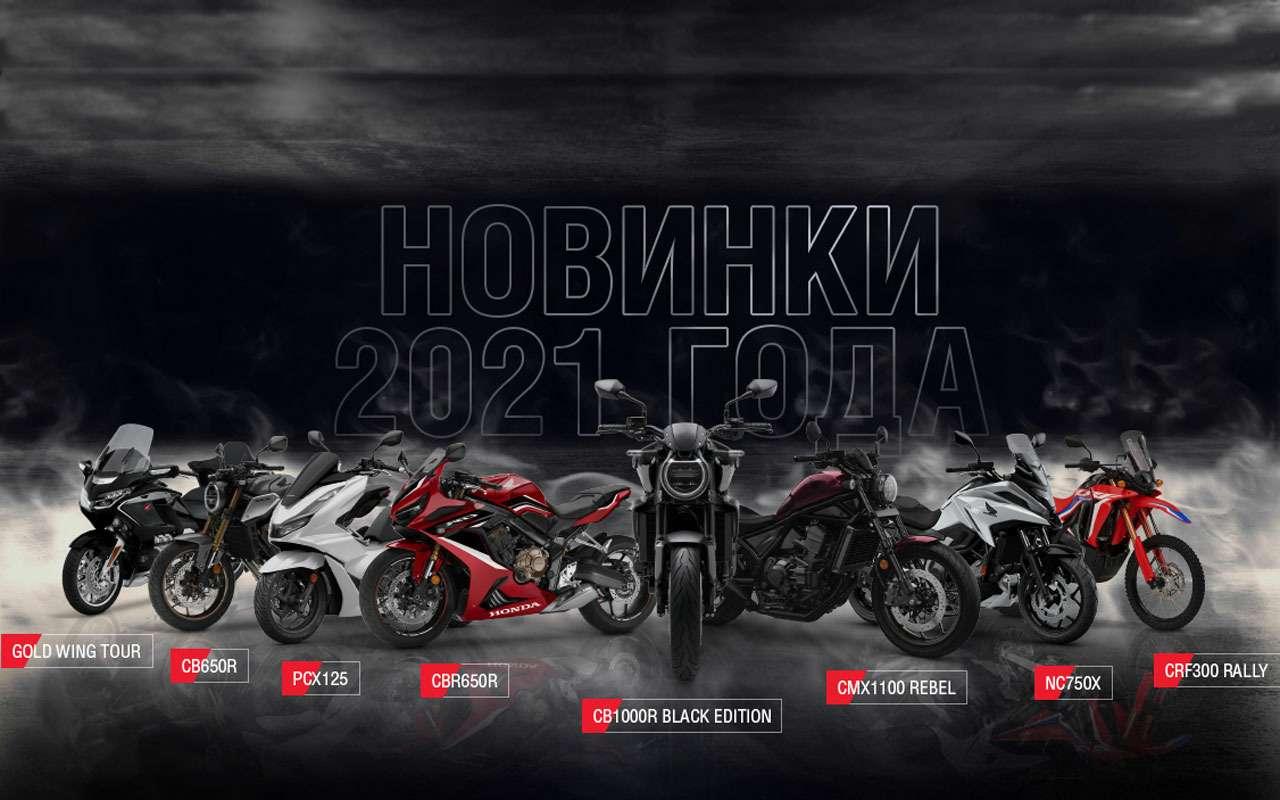 Honda представила 9мотоновинок 2021для России— фото 1209522
