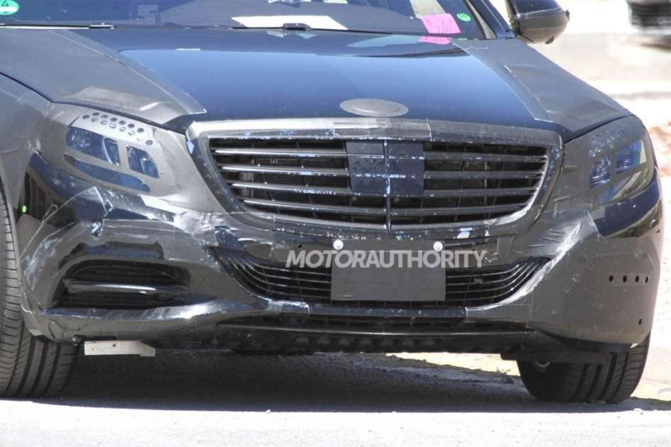 NewMercedes-Benz S-class test prototype front end