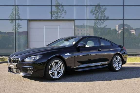 BMW640d Coupe with M-package side view