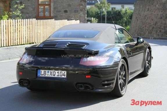 Porsche 911 Turbo Cabriolet 991 rear view
