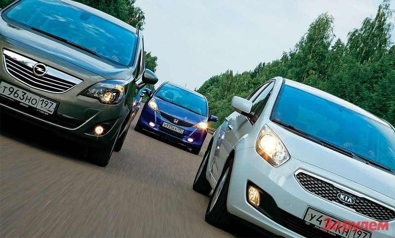 KiaVenga, Opel Meriva, Honda Jazz