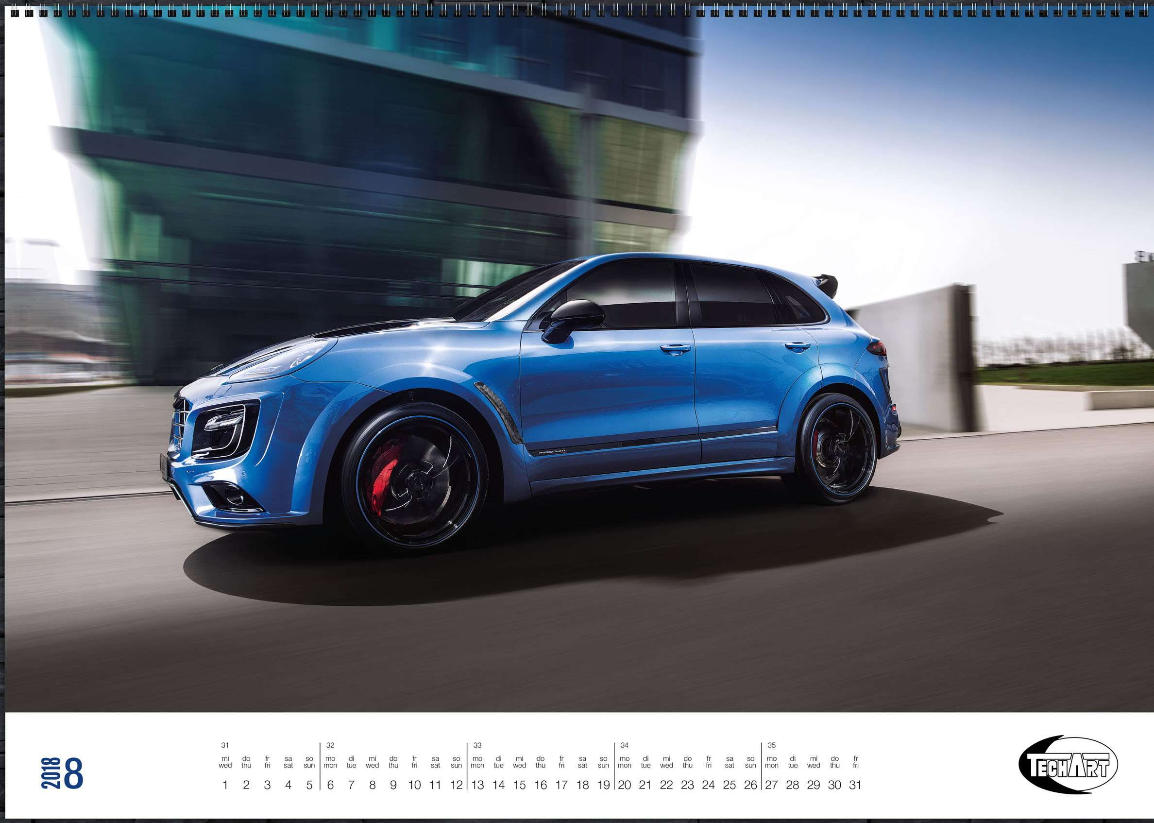 Только красивые машины: календарь Techart— фото 826394