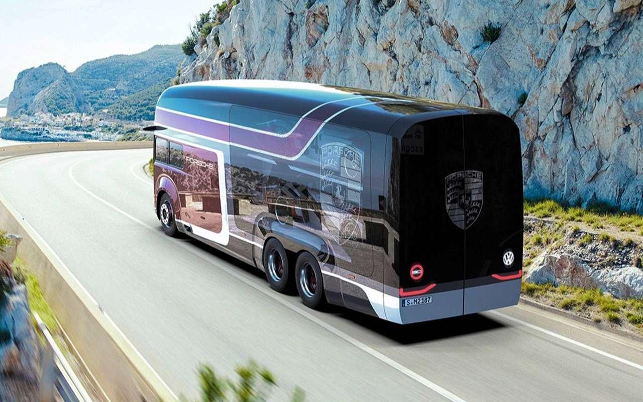 Русский дизайнер придумал автобус дляPorsche— фото 914602