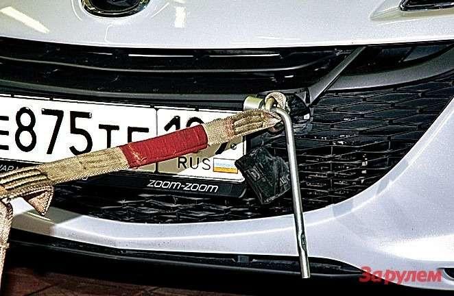 К передней проушине претензий нет: любой изтестовых тросов зацепили без проблем.