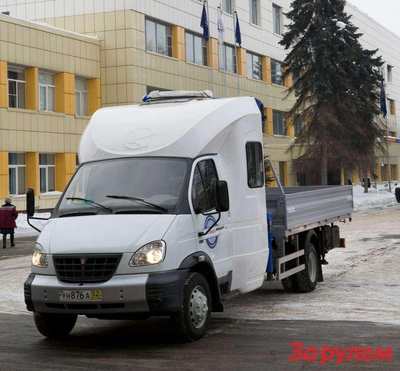 Среднетонажный грузовик ГАЗ-33106«Валдай» сгидроманипулятором