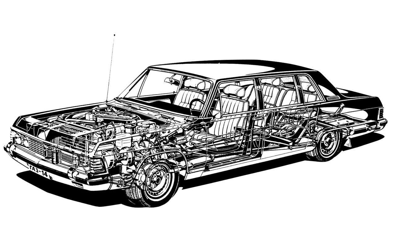 Чайка ГАЗ-14и ееамериканские «уши»— фото 1274108