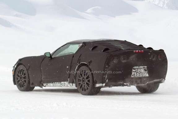 Chevrolet Corvette side-rear view