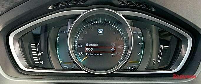 Опционная цифровая панель приборов позволяет выбрать графику поднастроение.