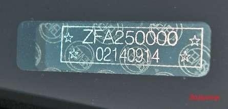 В VIN-номере Ducato первые буквы всегда ZFA, адалее идет индекс модели. Здесь— X250 образца 2006 года