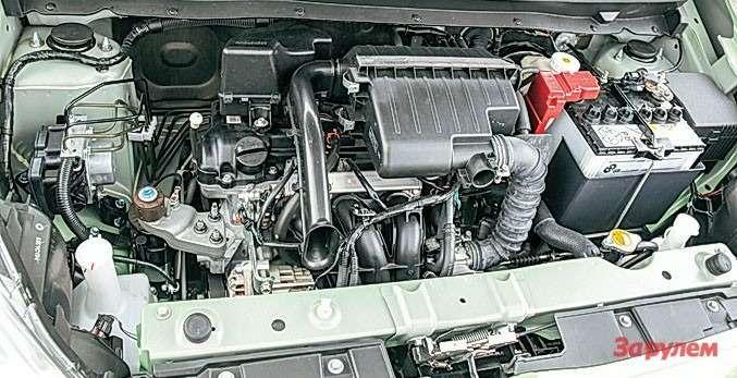 Mitsubishi Attrage Втиснуть между лонжеронами что-то более солидное нет никакой возможности. Навопрос отурбомоторе японцы ответили: неранее 2016 года.