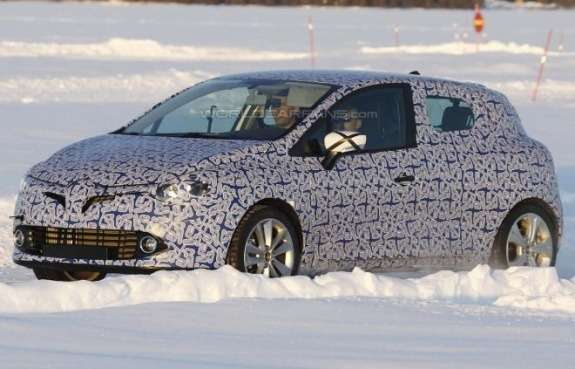 Next Renault Clio test prototype side-front view