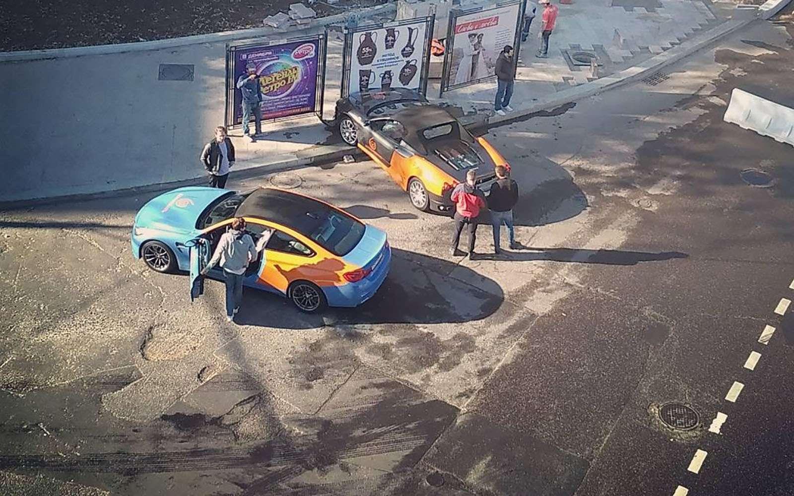 В Москве разбили единственную Феррари изкаршеринга— фото 799264