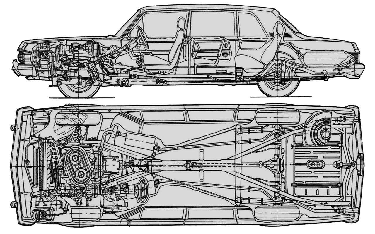Чайка ГАЗ-14и ееамериканские «уши»— фото 1274109