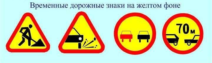 nocopyright новые временные знаки ПДД