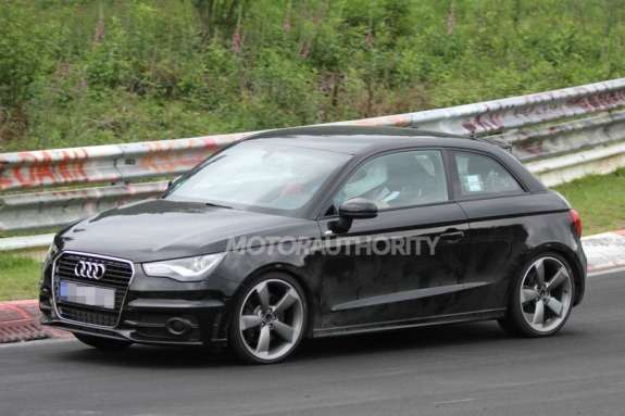 Audi S1 test prototype side-front view