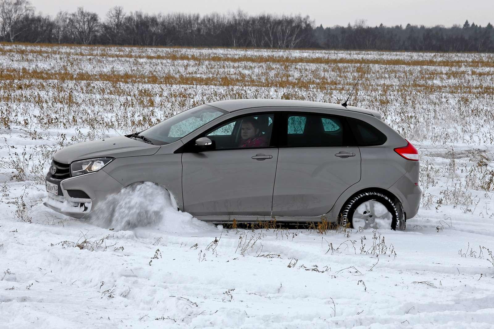 Большой зимний тест: Lada Vesta, Lada XRAY иDatsun mi-DO изпарка ЗР— фото 571448