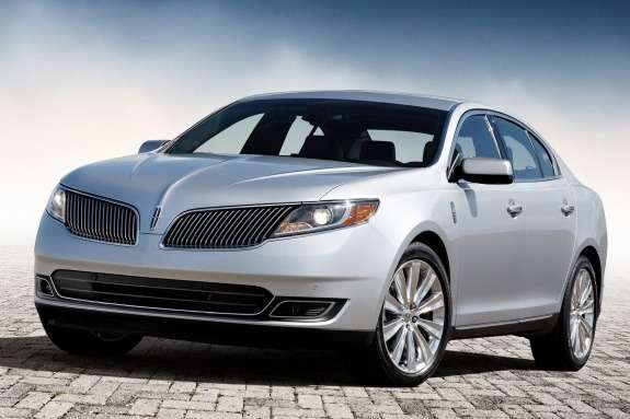 Lincoln MKS side-front view