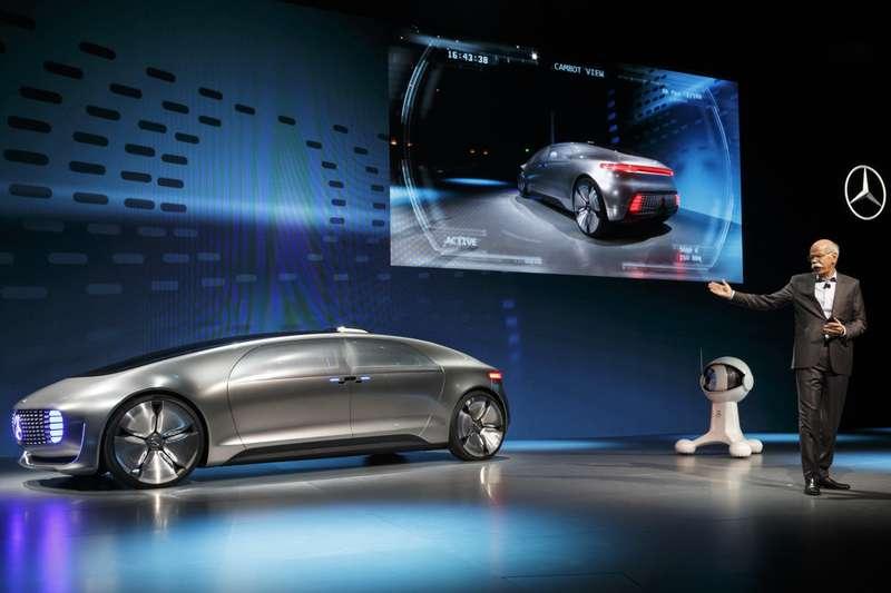 World premiere ofthe Mercedes-Benz F015 Luxury inMotion atthe CES, Las Vegas 2015Weltpremiere des Mercedes-Benz F015 Luxury inMotion auf der CES, Las Vegas 2015
