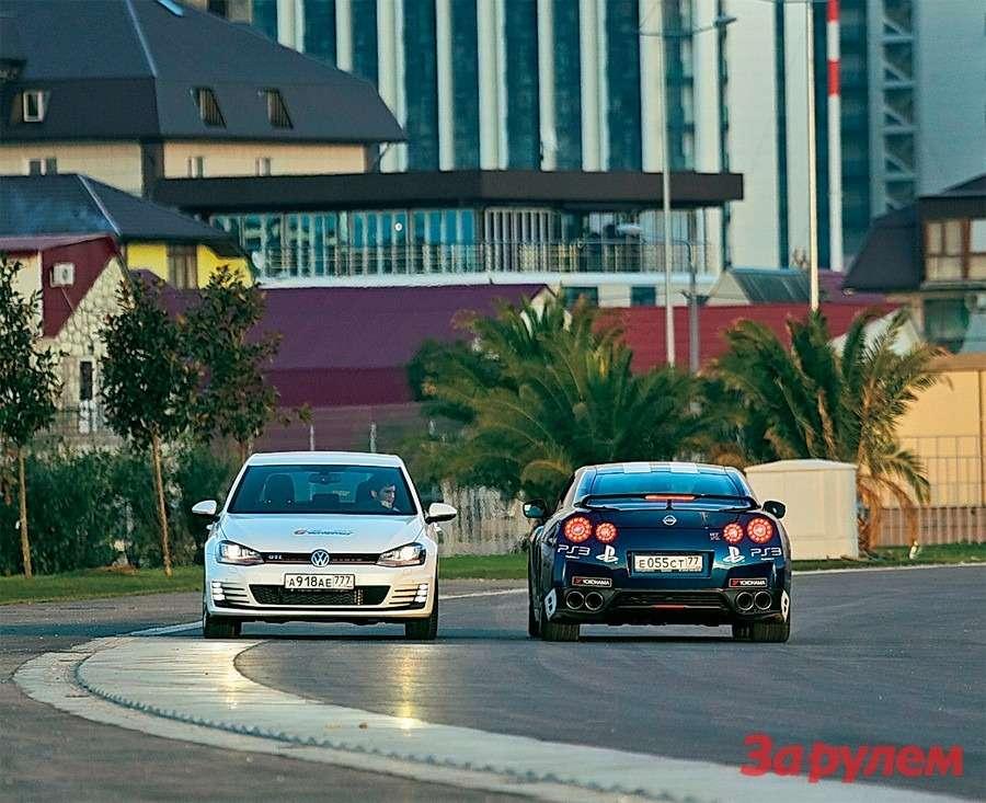 Первые вСочи: Nissan GT-R иVolkswagen Golf GTI— фото 259691