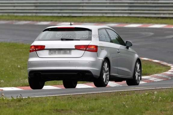 Audi S3 test prototype side-rear view