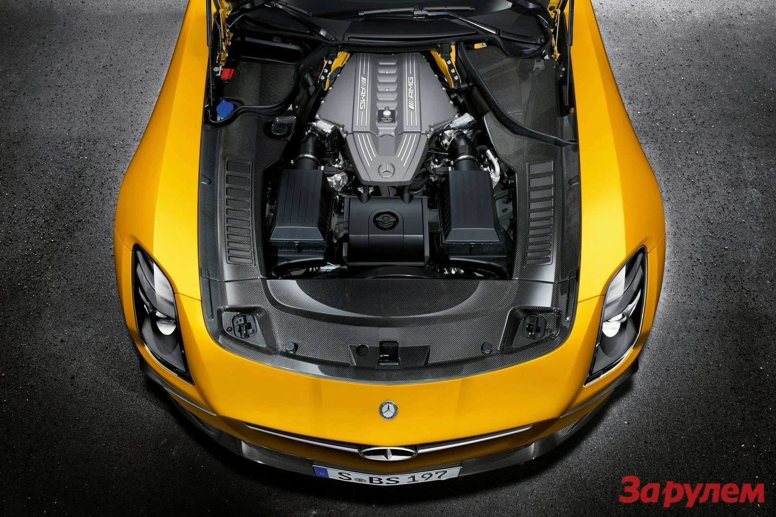 Mercedes-Benz SLS AMG Black Series engine compartment