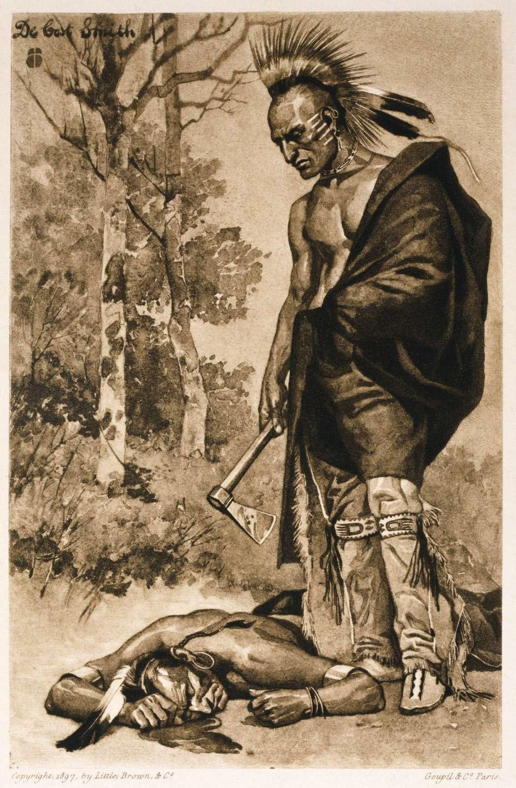 Смерть Понтиака. Сработы ДеКост Смита, 1897 года. Library ofCongress