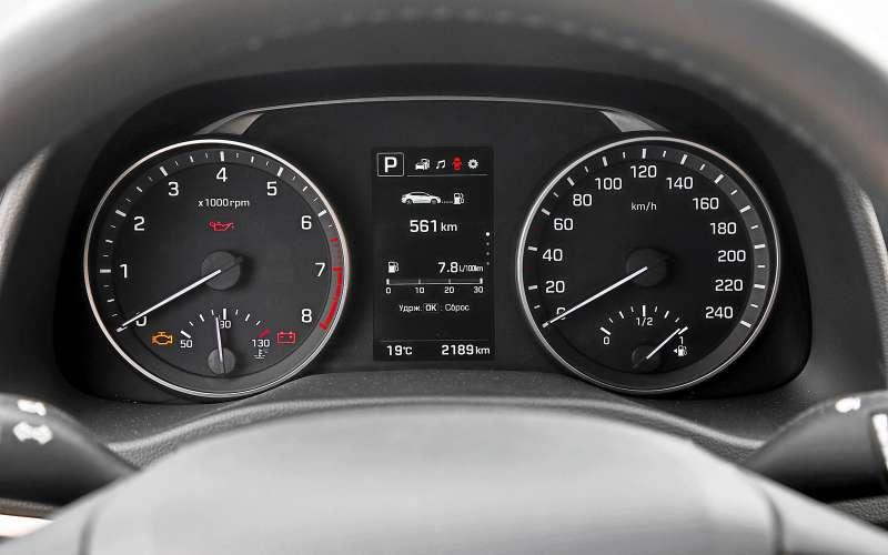 Приборы Hyundai Elantra