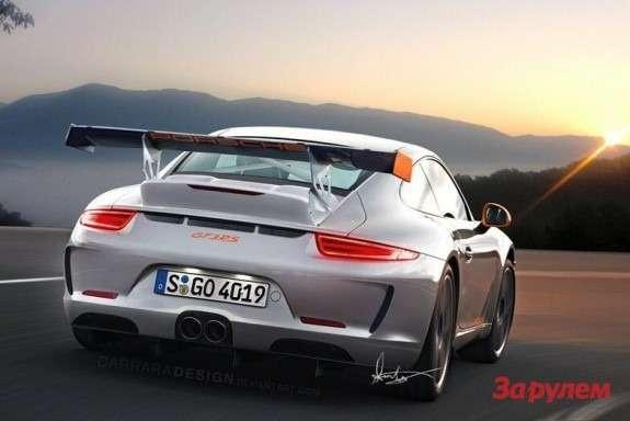 Porsche 911GT3RS rendering rear view