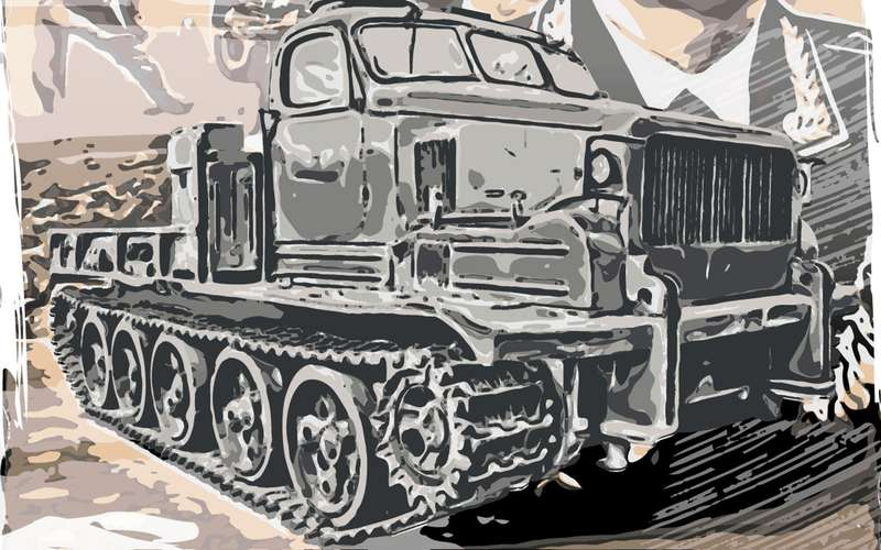 Автонаследие СССР: тягач набазе танка