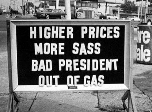 Nixon Calls for Sunday Ban on Gasoline Sales no copyright