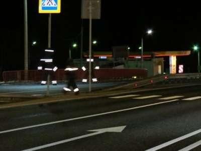 Световозвращающие макеты пешеходов появились наавтодороге М-1