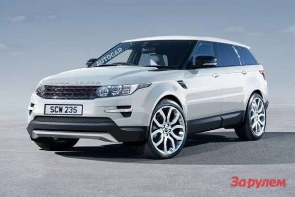 New Land Rover Range Rover rendering by Autocar