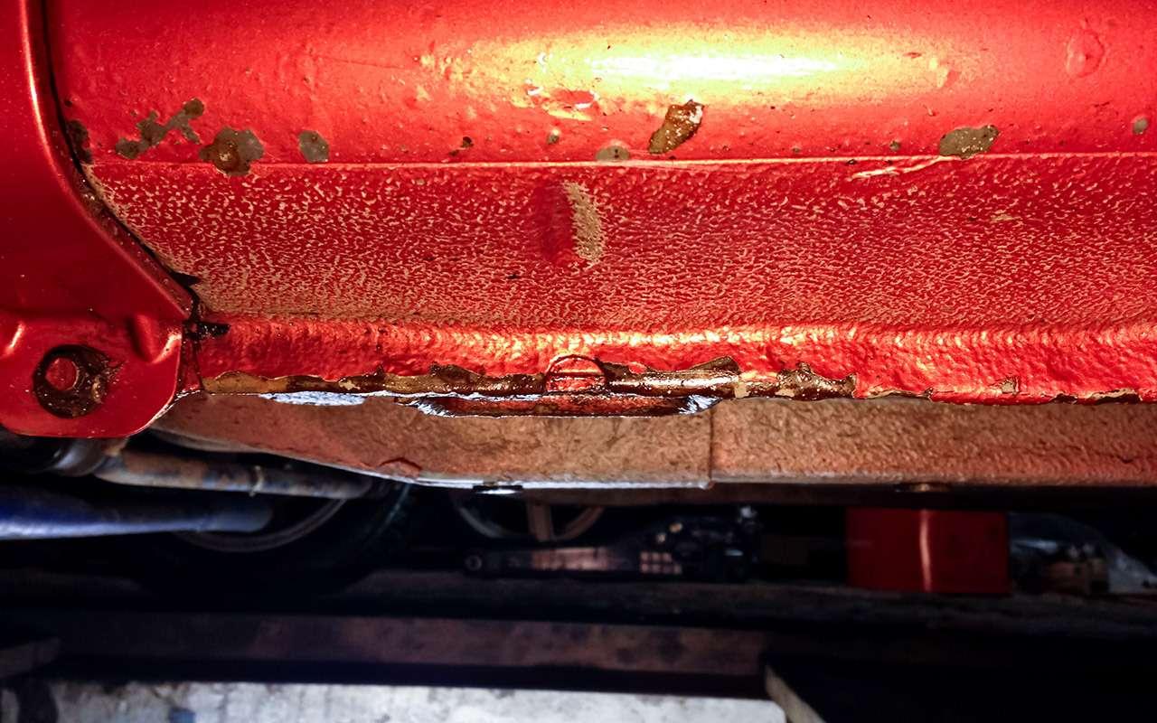 Лада Калина после 72тыс. км: ржавчина итест тормозов— фото 944405