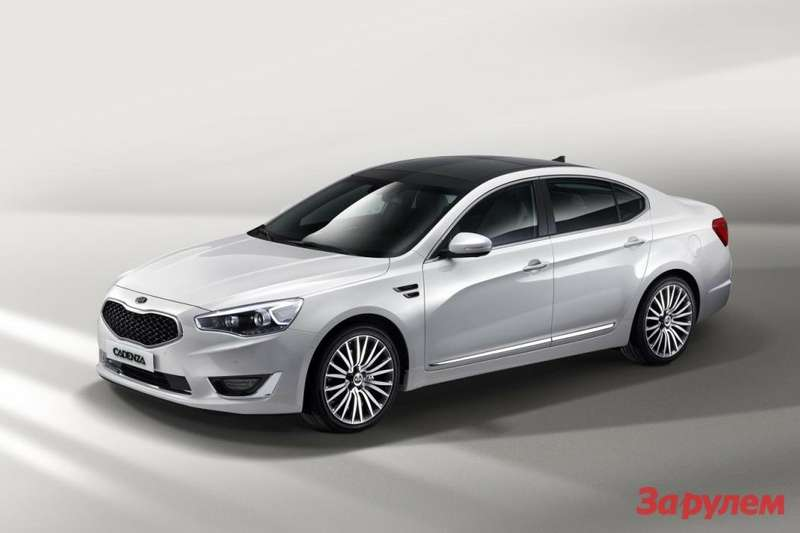 Facelifted Kia Cadenza side-front view