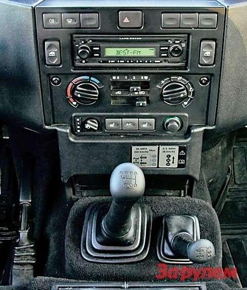 Кнопками наглыбе консоли пользоваться удобно. Авот крычагу управления режимами трансмиссии приходится тянуться.
